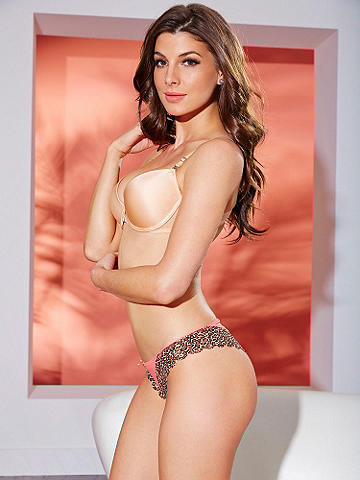 Leopard & Lace Tanga - Smooth, seamless and wildly flirtatious. This sexy, new stunner features: 
