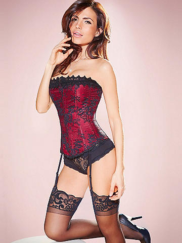 Hollywood Dream Lace Strapless Corset - Our best-selling corset crafted in a gorgeous lace design. Sleek satin is embellished with a luxurious lace overlay and trim. Features include: