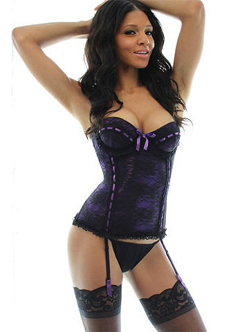 Beaded Lace & Ribbon Corset