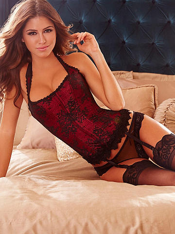 Hollywood Dream Lace Halter Corset