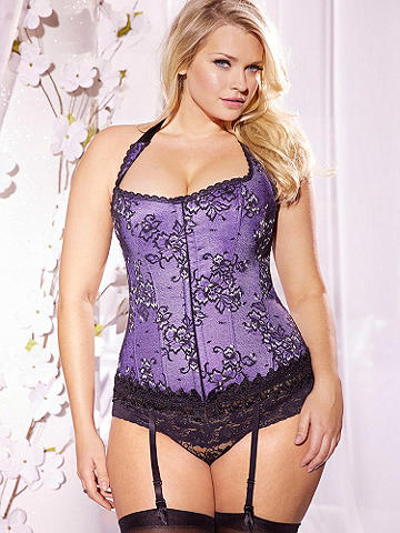 Hollywood Dream Lurex Halter Full-Figure Corset