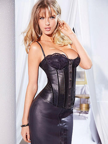 Cutting Edge Corset - Your incredible curves go cutting edge on this sleek and sultry, new corset. Its must-have features include: 