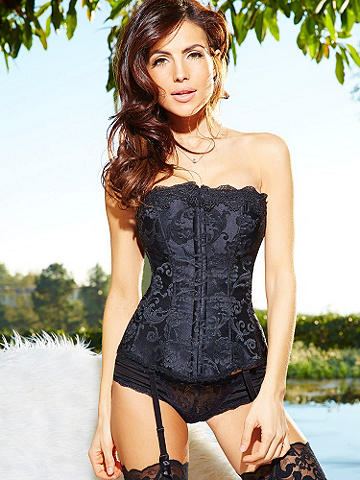 Lacy Hollywood Dream Corset - Our most popular, curve-loving corset goes glam and luxurious for season, now adorned with luxe accents of lace. Its glorious features include: