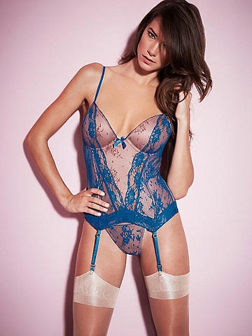 Lace Prive Layered Merrywidow - Lace adorned with even more lace. It's simply exquisite. Our layered merrywidow not only looks like perfection, your figure does, too. You'll adore the: