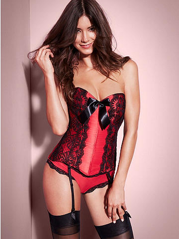 Heavenly Hourglass Corset - For the most heavenly body, lace up this curve-adoring stunner. Magnetic features include: 