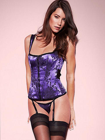 All Wrapped Up Satin Corset - Because the greatest holiday gift you can unwrap is yourself. Lace up the sexiest body in this sleek, new corset featuring: 
