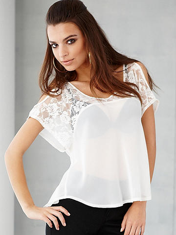 Sheer Lace Opera Top