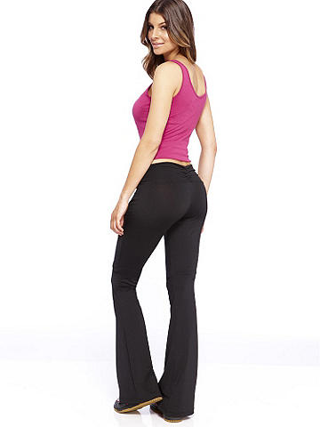 Long Yoga Pant PLUS - Studio, gym or lounge: slip into comfort and fashion forward style with our all-new yoga pant. Maximize your look with our new V-Neck or Tank Top to ensure you're fabulous, no matter the activity! Be sexy in everyday essentials with star power from Frederick's of Hollywood.