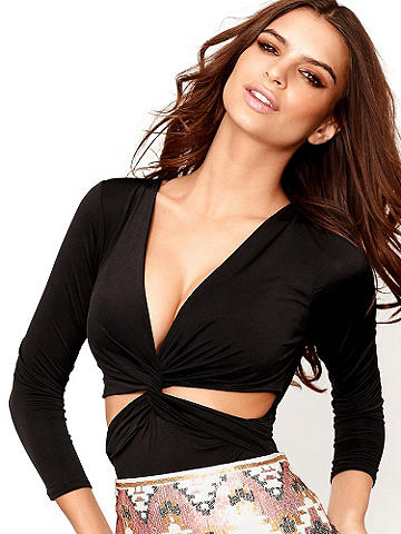 Deep-V Cutout Top