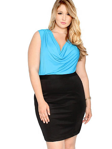 Classic Pencil Skirt PLUS - Because every girls needs the perfect pencil skirt. Richly textured in a beautiful fabric, this modern update hugs your curves and defines your figure. Wear it by day with a blazer or cardigan and pumps. Or rock it at night with a sexy tank and stiletto sandals. Zip back. Polyester/spandex. Imported.
