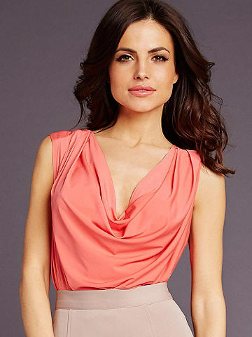 Delphine Day-to-Night Top - A beautifully draping fabric and day-to-night versatility make this flattering style an essential. It works with most everything you wear. We think it looks perfectly polished with a pencil skirt and heels. Polyester/spandex. Imported.