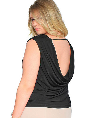 Delphine Day-to-Night Top PLUS - A beautifully draping fabric and day-to-night versatility make this flattering style an essential. It works with most everything you wear. We think it looks perfectly polished with a pencil skirt and heels. Polyester/spandex. Imported.