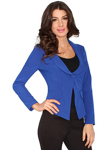 Essential One-Button Blazer - Perfect for everyday style or a standout at night, this essential blazer is a must-have as the weather grows warmer. Designed in fluid, lightweight chiffon it drapes flawlessly and pairs well with almost anything. Polyester. Imported.