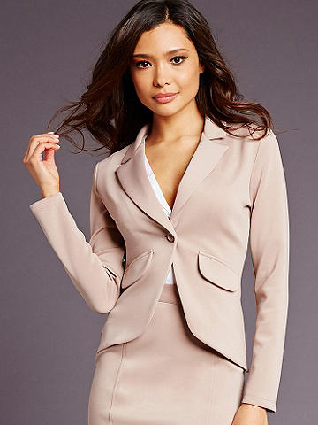 Career Chic Essential Blazer - Discover our new collection of alluring and sophisticated styles that get you noticed from the office to dinner and beyond. The Essential Blazer is designed in a beautifully tailored fabric and features: 