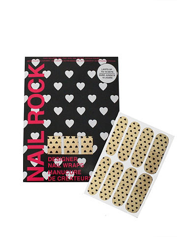Blackgold Heart Nail Wrap