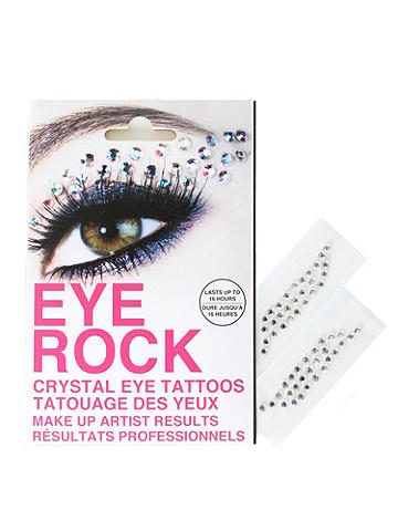 Glimmer Eye Rock - Introducing the newest member of the glitterati: Eye Rock's crystal transfers. Easy to apply and just as easy to remove, these little rhinestones will turn everyday into a sparkle party. Use them to accent your brow bones or create stunning statements across your cheek. Each packet contains up two pre-shaped applications that last up to 16 hours. Imported.