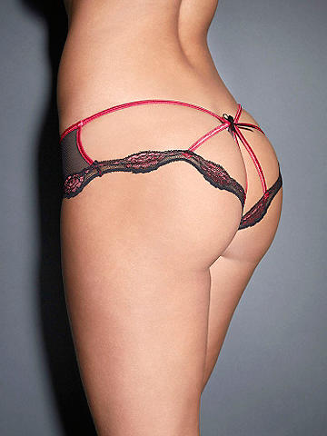 Caged Lace Open Panel Panty