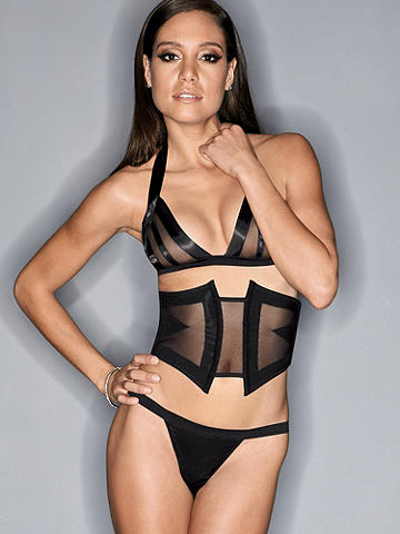 Mesh & Satin Illusion Waist Cincher