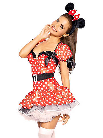 Flirty Mouse Costume - One of our most popular costumes ever. This flirty getup flaunts your playful side--you're sure to be the belle of the costume ball. The over-the-top three-piece set includes: