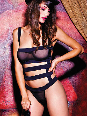 Strappy Fishnet Teddy