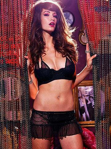Sheer Seduction Half-Slip - Sheer, luscious chiffon and a flirty silhouette create an ultra-sexy lingerie essential. Embroidered detail on the sides. Finished with a ruffled hem. Match it to the Sheer Seduction Shelf Bra for a statement-making night-in look! Nylon/spandex. Imported.