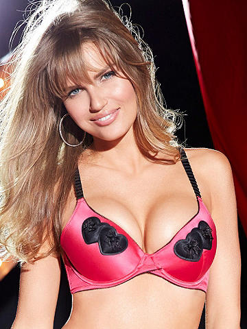 Double Hearts Bra - Get your frill of romance in an ultimate icon of romance. This cleavage-contouring bra features: 