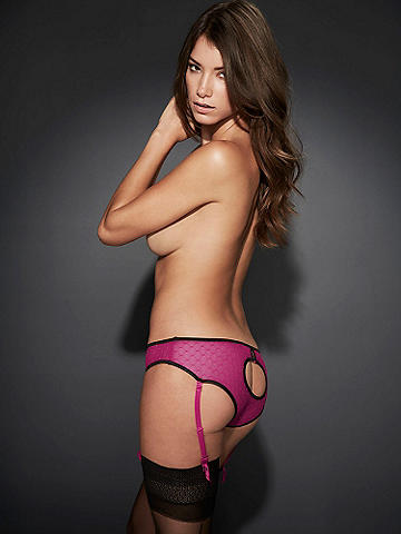 Gartered Peek-a-Boo Panty - Try a little something naughty yet so very nice. This ultra-sexy must-have features: