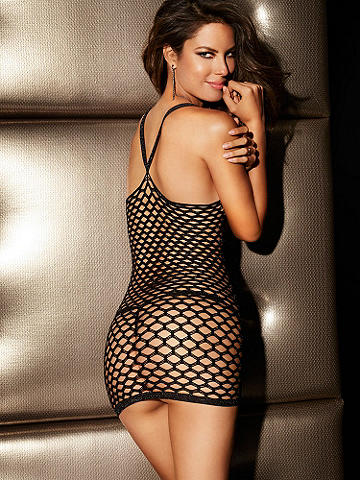 NEW Seamless Lurex Fishnet Chemise - Because you like the temperature to go up after night falls. Slip into our latest marvel of seduction. Ultra-sexy chemise features: