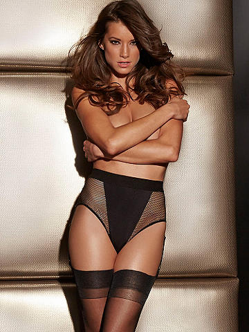 Fishnet Gartered Panty - Sleek, contemporary lines flirt with peekaboo micromesh for a seductive look like no other. Stunning and unique, this new style features: