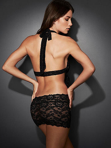 Alaina Lace Cutout Chemise - For girls who love getting into a little trouble. This ultra-sexy chemise features:
