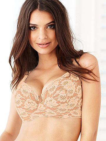Satin & Lace Full Cup Bra